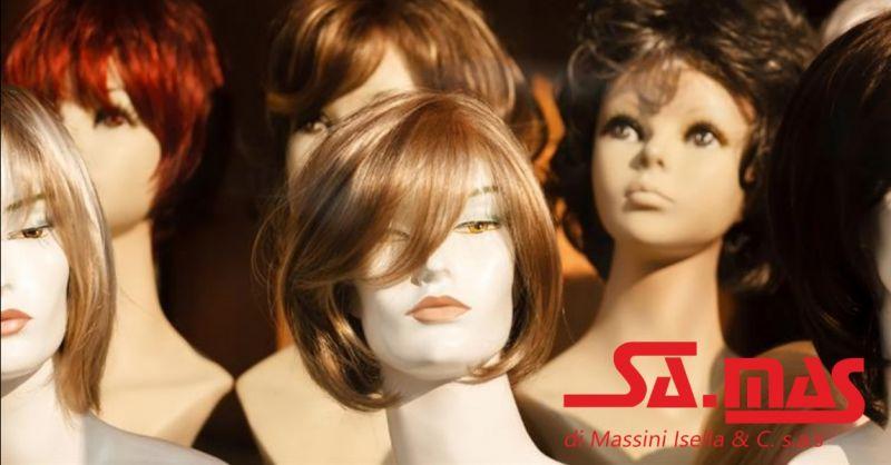 SA.MAS offerta parrucca donna capelli lunghi - occasione parrucche donna capelli corti Piacenza