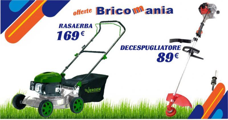 BricoMania offerta su rasaerba e decespugliatore