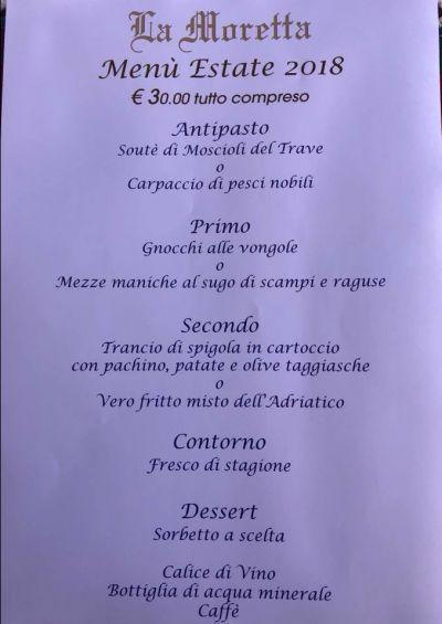 ristorante specialita pesce con menu a prezzo fisso ancona