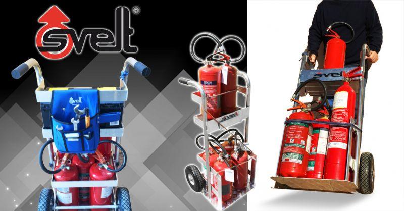 Offerta Carrello professionale in alluminio per trasporto estintori Bergamo
