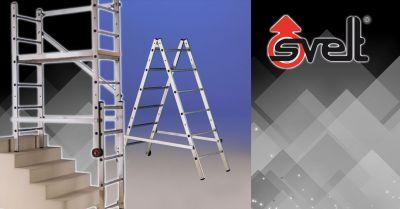 offerta trabattello multiposizione in alluminio bergamo occasione trabattello trasformabile a montaggio rapido