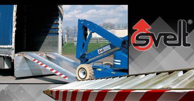 offerte rampa da carico in alluminio in vendita bergamo occasione rampe da carico con bordo