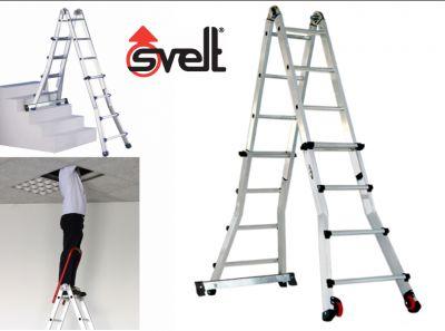 svelt offerta scala telescopica multiposizione promo scale uso professionale alluminio