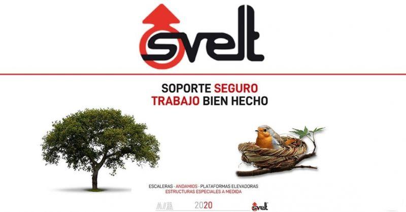 SVELT - Encuentra la mejor fábrica italiana de producción de escaleras y andamios profesionales