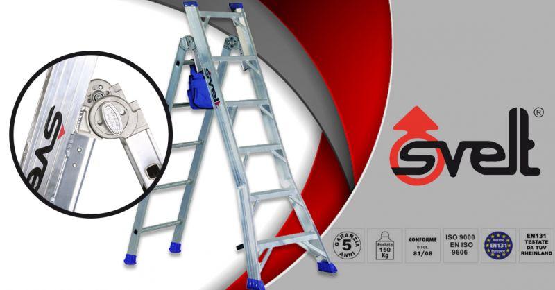 SVELT SPA - Offerta scala a doppia salita trasformabile in scala d'appoggio modello HYBRID