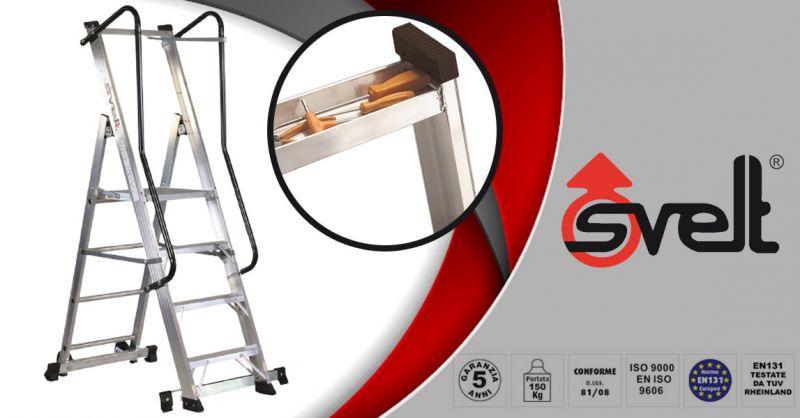 SVELT - Promozione vendita online scala professionale in alluminio MOBY Altezza max m 2,96