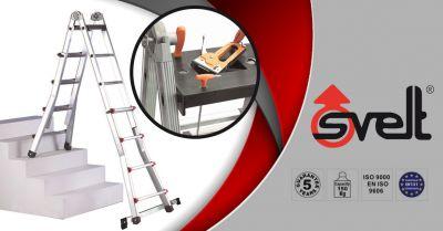 svelt spa ladder opportunity scalissima with extender maximum height 4 10 m made in italy