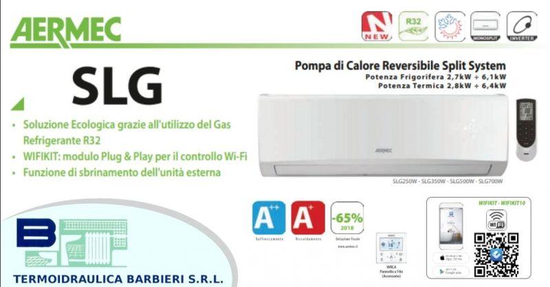 Offerta climatizzatore monosplit marca Aermec pompa di calore reversibile provincia Piacenza