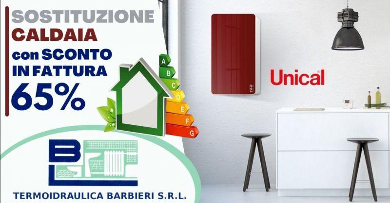 Offerta installazione caldaia Unical con sconto fattura 65 - Occasione sostituzione vecchia caldaia Piacenza