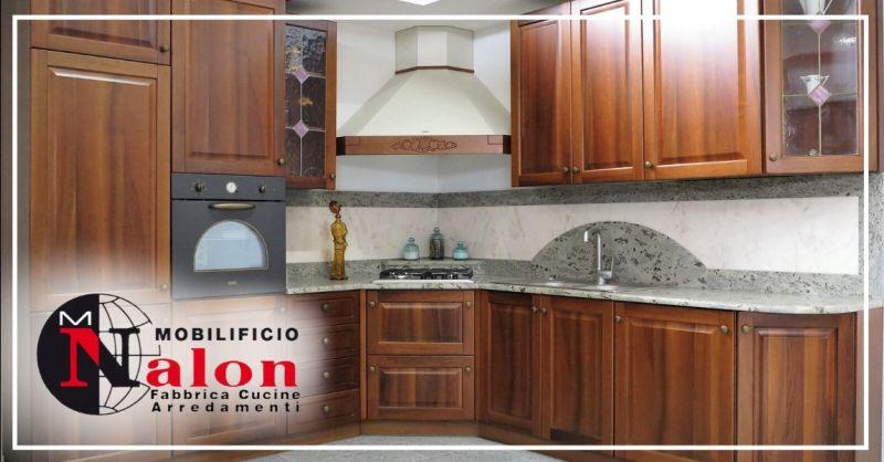 Promozione cucine ad angolo complete in sconto - offerta vendita cucina in noce nazionale Padova