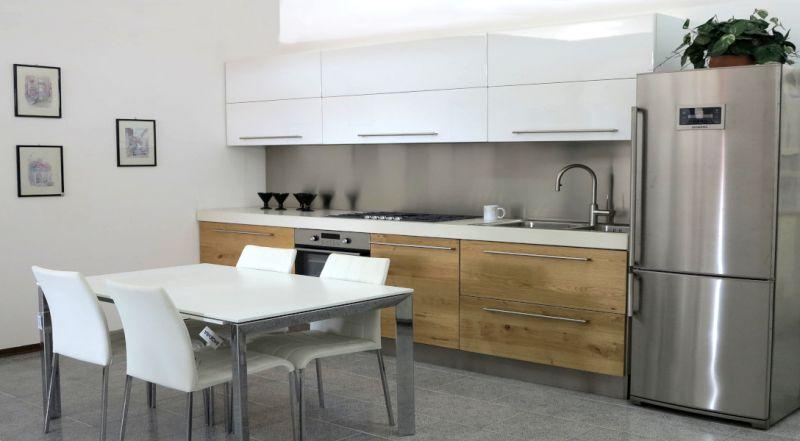 Offerta cucina lineare artigianale KRISTAL Padova - occasione cucine moderne in rovere Padova