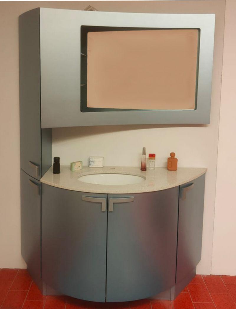 OFFERTA arredo bagno in laccato turchese metallizzato Padova