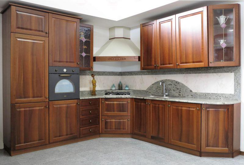 PROMOZIONE cucina angolare noce nazionale completa di elettrodomestici Padova