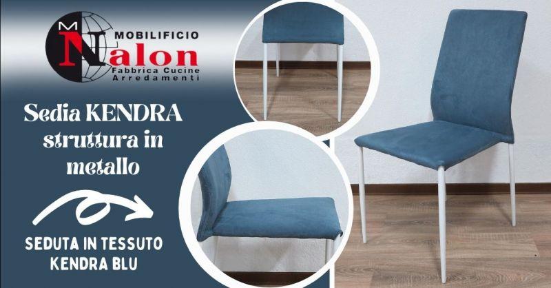 Offerta vendita sedie con struttura in metallo Padova - Occasione sedie blu con struttura in metallo Padova
