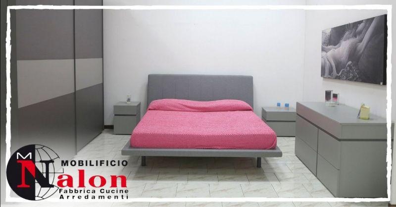 Offerta camera da letto grigia completa con letto armadio - Occasione camera da letto a prezzo scontato Padova