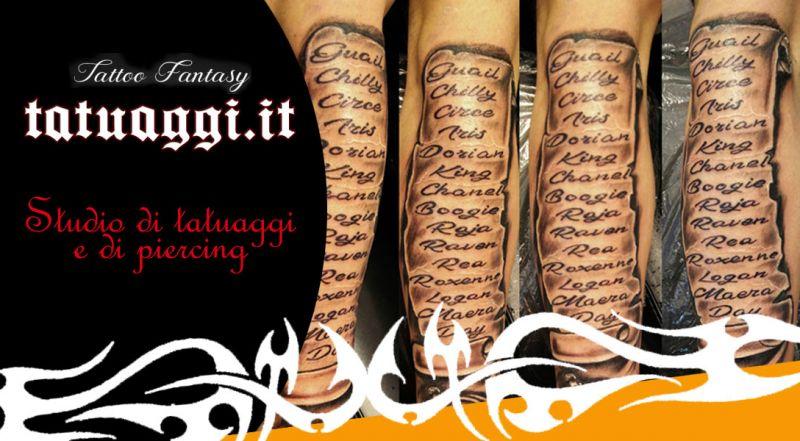 Offerta tatuaggio con scritte civitanova marche - promozione tatuaggio con scritte e disegni civitanova marche