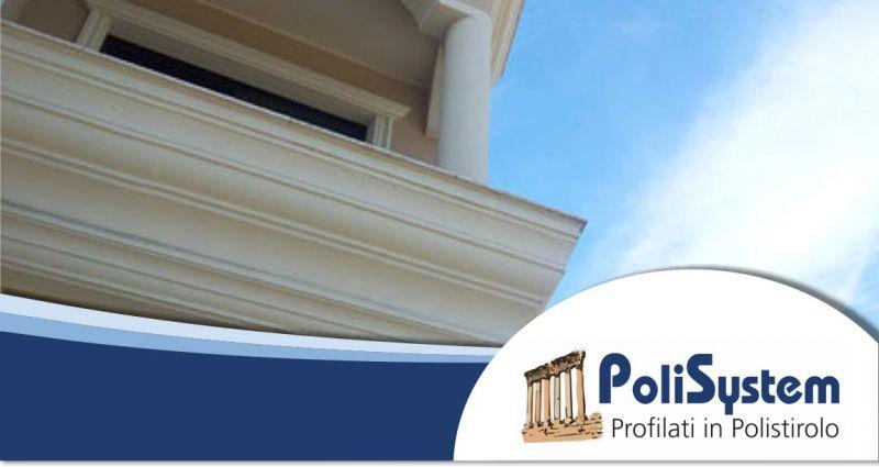POLISYSTEM finiture per esterni - offerta cornici decori profili polistirene alta densità
