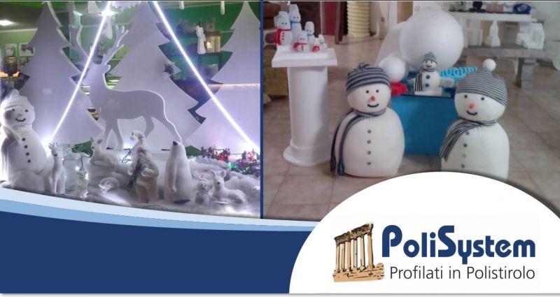 POLISYSTEM - offerta realizzazioni artistiche polistirolo allestimento vetrine spazi espositivi