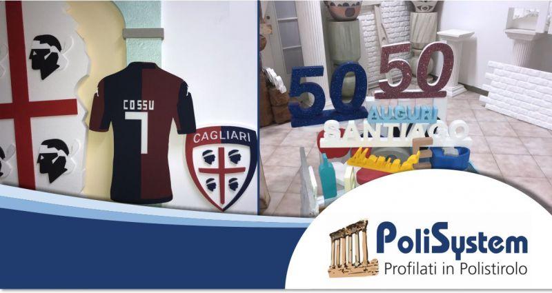 POLISYSTEM ASSEMINI - offerta realizzazione sagome e scritte in polistirolo allestimento feste