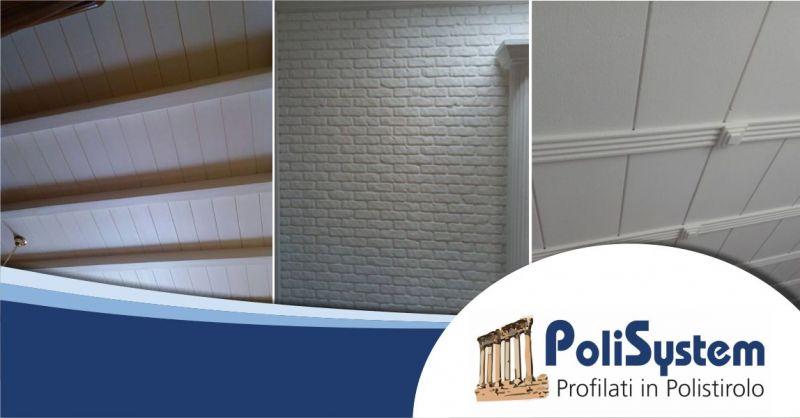 POLISYSTEM ASSEMINI - offerta decori cornici polistirolo alta densita per interno