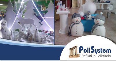 polisystem offerta realizzazioni artistiche polistirolo allestimento vetrine spazi espositivi