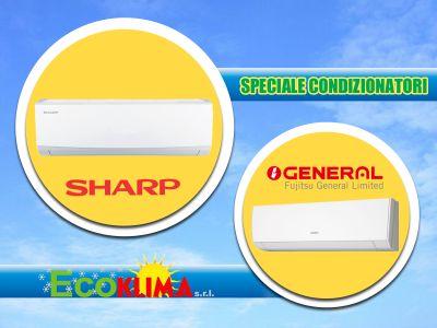 offerta climatizzatori general fujitsu promozione climatizzatore sharp ecoklima