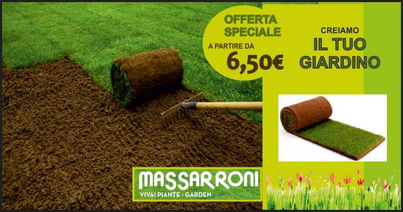 vivai massarroni offerta realizzazione giardini con prato pronto - occasione zolle prato pronto