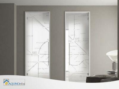 promo porta a vetro temperata satinata aquino infissi