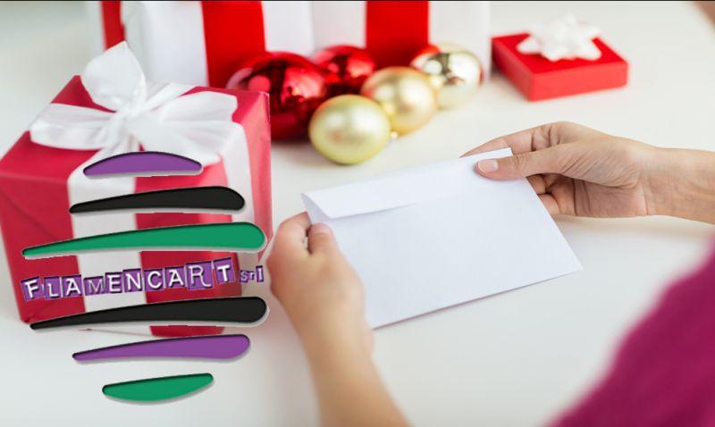 Promozione biglietti natale bricolage rende offerta oggettistica decorazioni natalizie