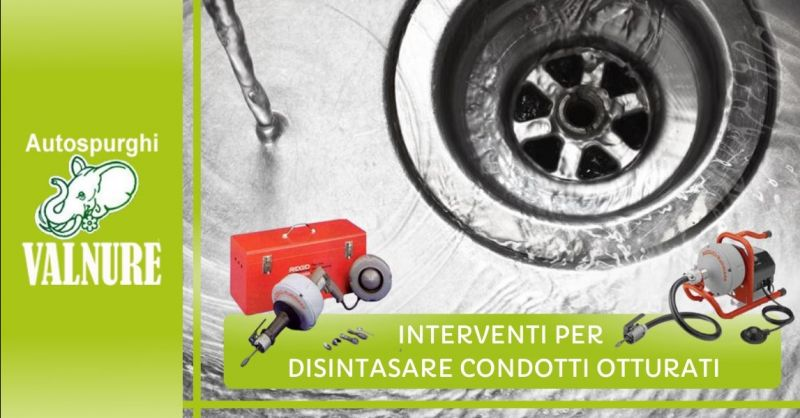 Offerta interventi per disintasare condotti otturati - Occasione disotturazione tubi di scarico Piacenza