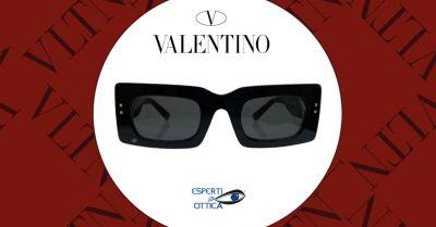 esperti in ottica offerta vendita online occhiali valentino da sole neri modello va4094
