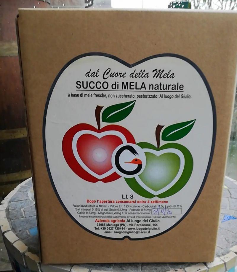 Vendita Succo mela naturale Maniago Pordenone