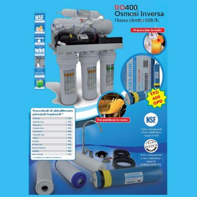 filtrazione depurazione osmosi inversa diretta microfiltrazione installazione sottolavello