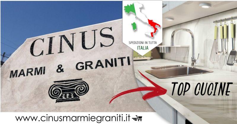 CINUS vendita online - offerta top cucina in marmo consegna in tutta Italia
