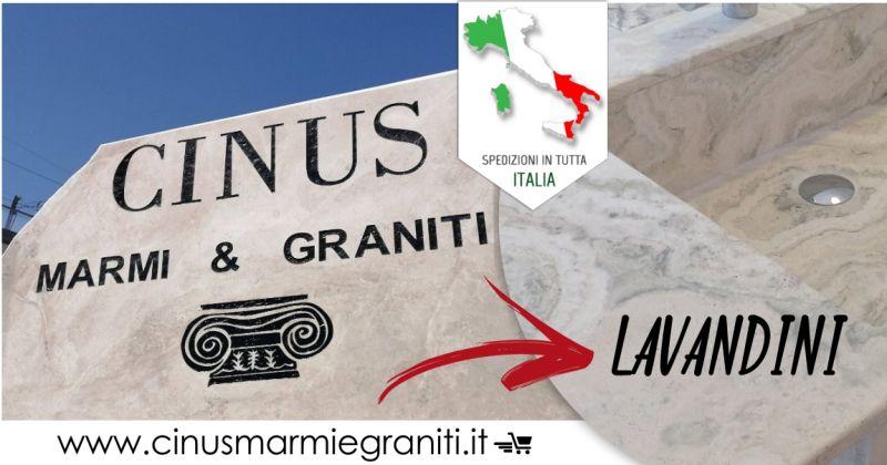 CINUS vendita online - offerta lavandino in marmo consegna in tutta Italia