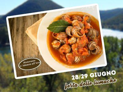 offerta festa delle lumache promozione piatti specialita lumache ristorante amaca alleco