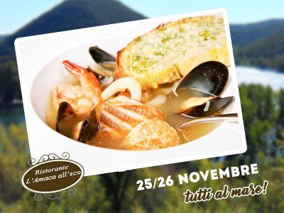 offerta pranzo di mare promozione cucina di pesce piediluco amaca alleco