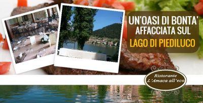 offerta ristorante sul lago di piediluco promozione locale per eventi a piediluco