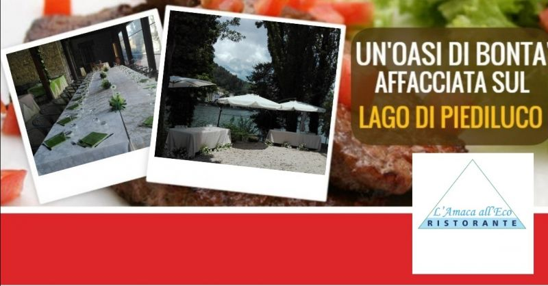 Ristorante L'amaca all'Eco offerta ristorante per cerimonie - occasione ristorante sul lago