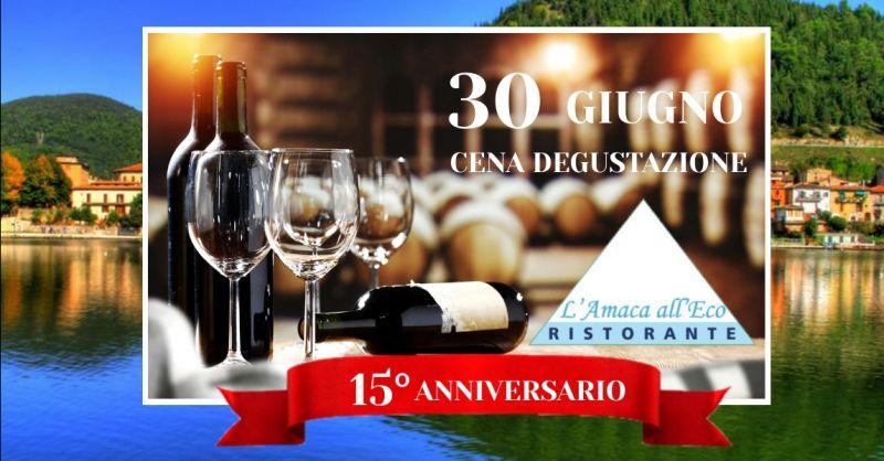 offerta cena con degustazione vini Terni - occasione ristorante vicino lago di Piediluco Terni