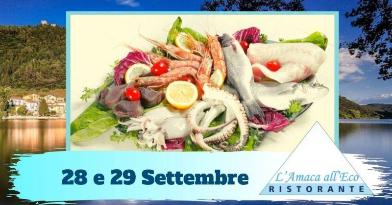 Offerta mangiare pesce di mare fresco - occasione ristorante specialità piatti di pesce Terni