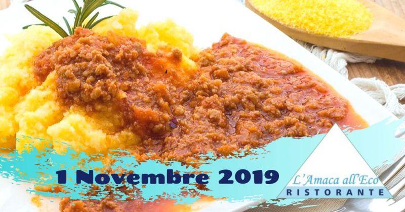 Offerta degustazione menu con polenta Terni - occasione ristorante specialità ternane Piediluco