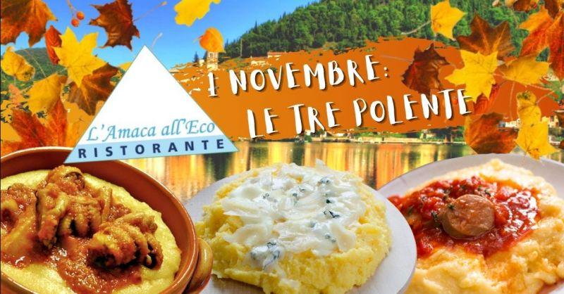 Offerta degustazione menù con polenta Terni - Occasione degustazioni autunnali lago di Piediluco Terni