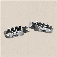 coppia pedalini poggiapiedi in alluminio