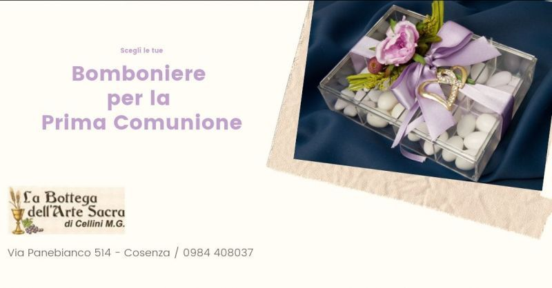Offerta bomboniere prima comunione cosenza - offerta bomboniere cosenza - prima comunione rende