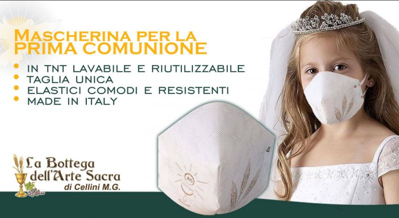 offerta mascherina prima comunione cosenza - promozione mascherine per bambini comunione cosenza