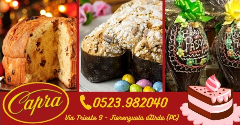 Offerta realizzazione panettoni colombe artigianali provincia Piacenza - Occasione uova di cioccolato produzione propria