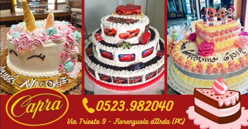 Offerta torte di compleanno per bambine Piacenza - Occasione realizzazione torte moderne personalizzate