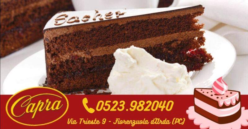 Offerta torta Sacher produzione propria Piacenza - Occasione specialità prodotti al cioccolato artigianali