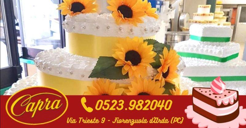 Offerta produzione torte nuziali moderne Piacenza - Occasione realizzazione torta per anniversario